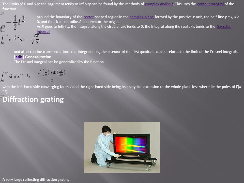 Diffraction grating [edit] Generalization